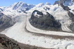 Glacier at Matterhorn Royalty Free Stock Photography