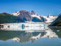 Columbia Glacier is mirrored to the Sea, Alaska  Stock Images