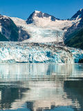 Columbia Glacier is mirrored to the Sea, Alaska  Royalty Free Stock Image