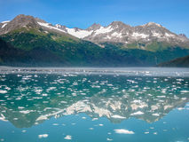 Mountains Mirror: Prince William Glacier, Alaska Royalty Free Stock Images