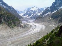 Glacier Mer de Glace. Stock Images