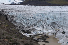 A glacier in the middle of rocks, Iceland Royalty Free Stock Photography