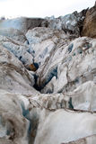 Dirty Glacier. A glacier mixed with soil in it Stock Photo