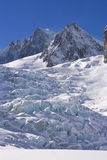 Glacier of mont blanc Royalty Free Stock Photos