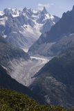 Glacier in the Mont Blanc massif Royalty Free Stock Image
