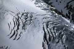 Glacier at Mont Blanc mountain range in Chamonix, France Stock Images