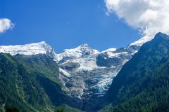 Glacier of the Mont Blanc stock photos