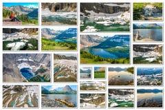 Glacier Montana collage Royalty Free Stock Image