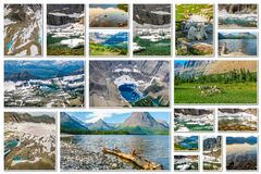 Glacier Montana collage Royalty Free Stock Photos