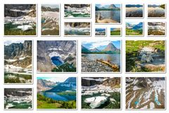 Glacier Montana collage Royalty Free Stock Photography