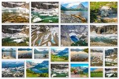 Glacier Montana landscapes collage Stock Image