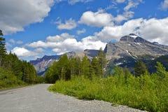 Glacier Montana Road Stock Image