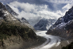 Glacier, Montenvers, Chamonix, France Royalty Free Stock Images