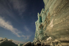 Glacier in moon lights Royalty Free Stock Photography