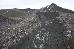 Glacier moraines (Spitsbergen) Stock Photos