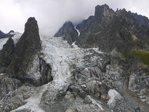 Glacier in the Mount Blanc, Val Veny,  Alps Mountains Stock Photography