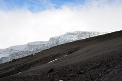 Glacier of mount Kilimanjaro Stock Image