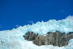Glacier. Mountain glacier  ,blue sky , at alaska Stock Photography