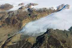 Glacier and mountain in Greenland Royalty Free Stock Image