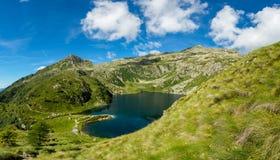 Glacier mountain lake in Brenta Dolomites. Lago Ritorto of the 5 Laghi trek Stock Photos