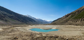 Glacier mountain lake panorama Royalty Free Stock Photo