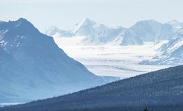 Glacier mountain view of USA Stock Image