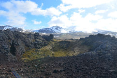 Glacier and Mountain Views from a Volcanic Crater Stock Images