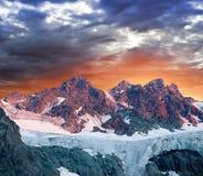 Glacier in a mountains Stock Photos