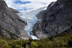 Glacier in  mountains Stock Photos