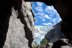 Glacier in  mountains Stock Photography