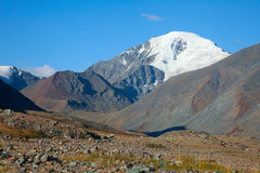 Glacier in the mountains Royalty Free Stock Photography