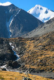 Glacier in the mountains Stock Image