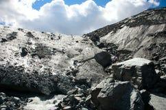 Glacier in the mountains Stock Photos