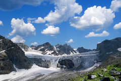 Glacier in the mountains Royalty Free Stock Images