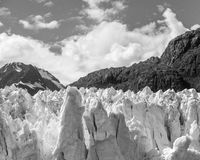 Glacier and mountains Royalty Free Stock Images