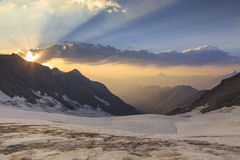 Glacier in the mountains Stock Photography