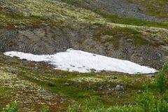 Glacier in the mountains of Khibiny, Kola Peninsula,. Russia Royalty Free Stock Photo
