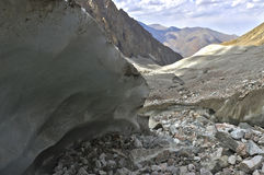Glacier. In the mountains of Kyrgyzstan Stock Image