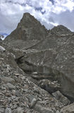 Glacier. In the mountains of Kyrgyzstan Royalty Free Stock Image