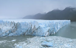 Glacier with mountains and lake. Argentina. Perito Moreno. Royalty Free Stock Photography
