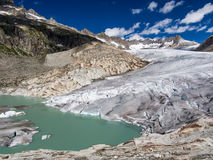 Glacier in the mountains Stock Images