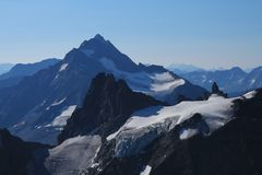Glacier and mountains seen from mount Titlis Stock Photo