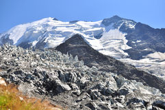 Glacier in mountains Royalty Free Stock Images