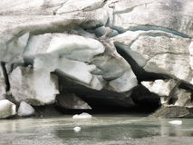 Glacier mouth Royalty Free Stock Images