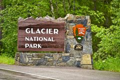 Glacier N.P. Entrance Sign Royalty Free Stock Photography