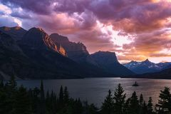 Glacier National Park Fotografia Stock Libera da Diritti