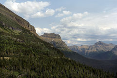 Glacier national park. In Montana state, USA, with blue sky and clouds Stock Photography