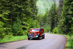 Glacier national park bus tour Royalty Free Stock Images