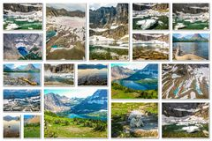 Glacier National Park collage royalty free stock image