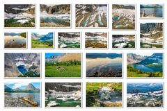Glacier National Park collage Royalty Free Stock Photography